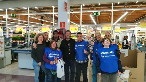 El grup del Rusc al Carrefour de Santa Susanna