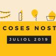 El mes de juliol és l'últim del curs 2018/2019 al Taller. Aquest any hem fet moltes activitats i durant aquest període final donem per acabades les activitats anuals i en […]