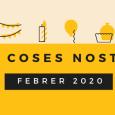 Aquest mes de febrer al taller hem celebrat l'aniversari d'en Josep i d'en Narro. És mes de carnaval i en això hem centrat els esforços, culminant en la festa del […]